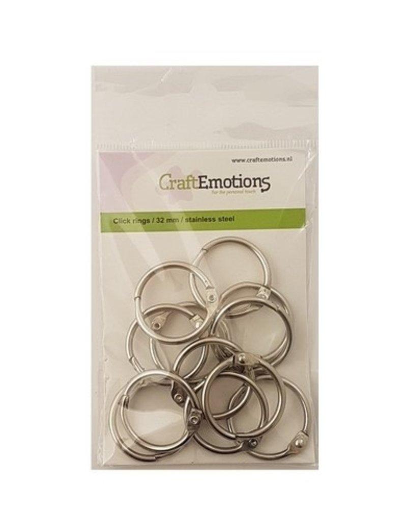 Craft Emotions CraftEmotions Klik ringen / boekbindersringen 32mm 12 st.