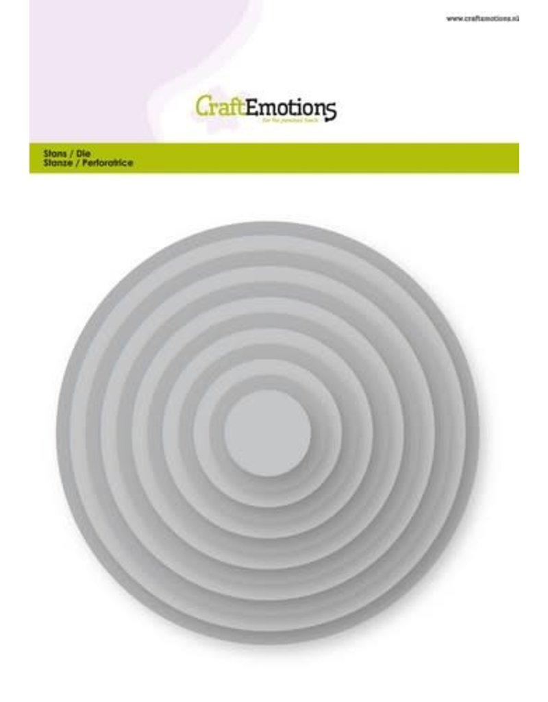 Craft Emotions CraftEmotions Big Nesting Die - cirkels Card 150x160 - 1,8-13,0cm