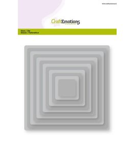 Craft Emotions CraftEmotions Big Nesting Die - vierkanten, afgeronde hoeken Card 150x160 - 2,7-13,0cm