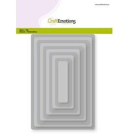 Craft Emotions CraftEmotions Big Nesting Die - rechthoeken, afgeronde hoeken Card 150x160 - 6,5-15,0cm