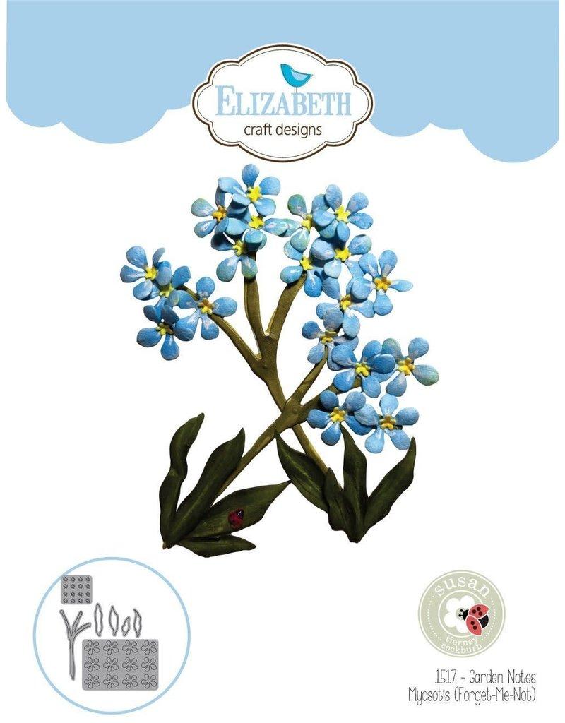 Elizabeth Craft Designs Elizbeth Craft Designs Garden Notes - Forget-Me-Not (Myosotis) 1517