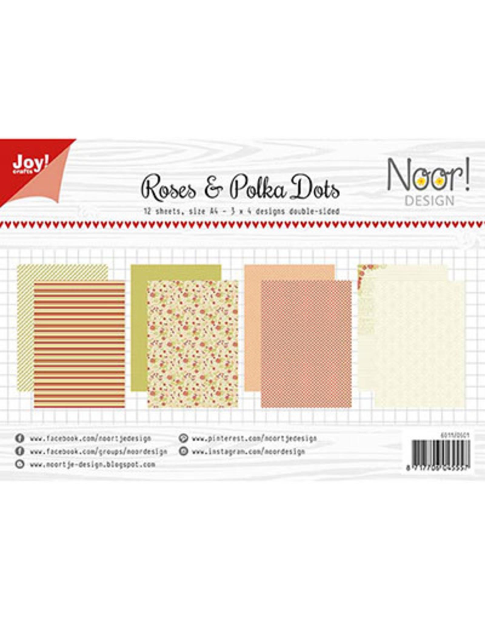 Joy Craft Joy Craft Papier Set A4 Design Roses & Polkadots  6011/0601