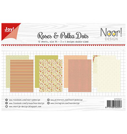 Joy Craft Joy Craft Papier Set A4 Design Roses & Polkadots  6011/0601