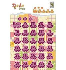 Nellie's Choice Nellies Choice DADA Baby Die - alphabet train letters DDD005 20mm high/pcs