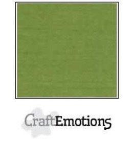 Craft Emotions CraftEmotions linnenkarton 10 vel mosgroen LHC-45 A4