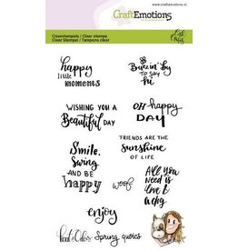 Craft Emotions CraftEmotions clearstamps A6 - Kaat en Odey Spring quotes (Eng) Carla Creaties