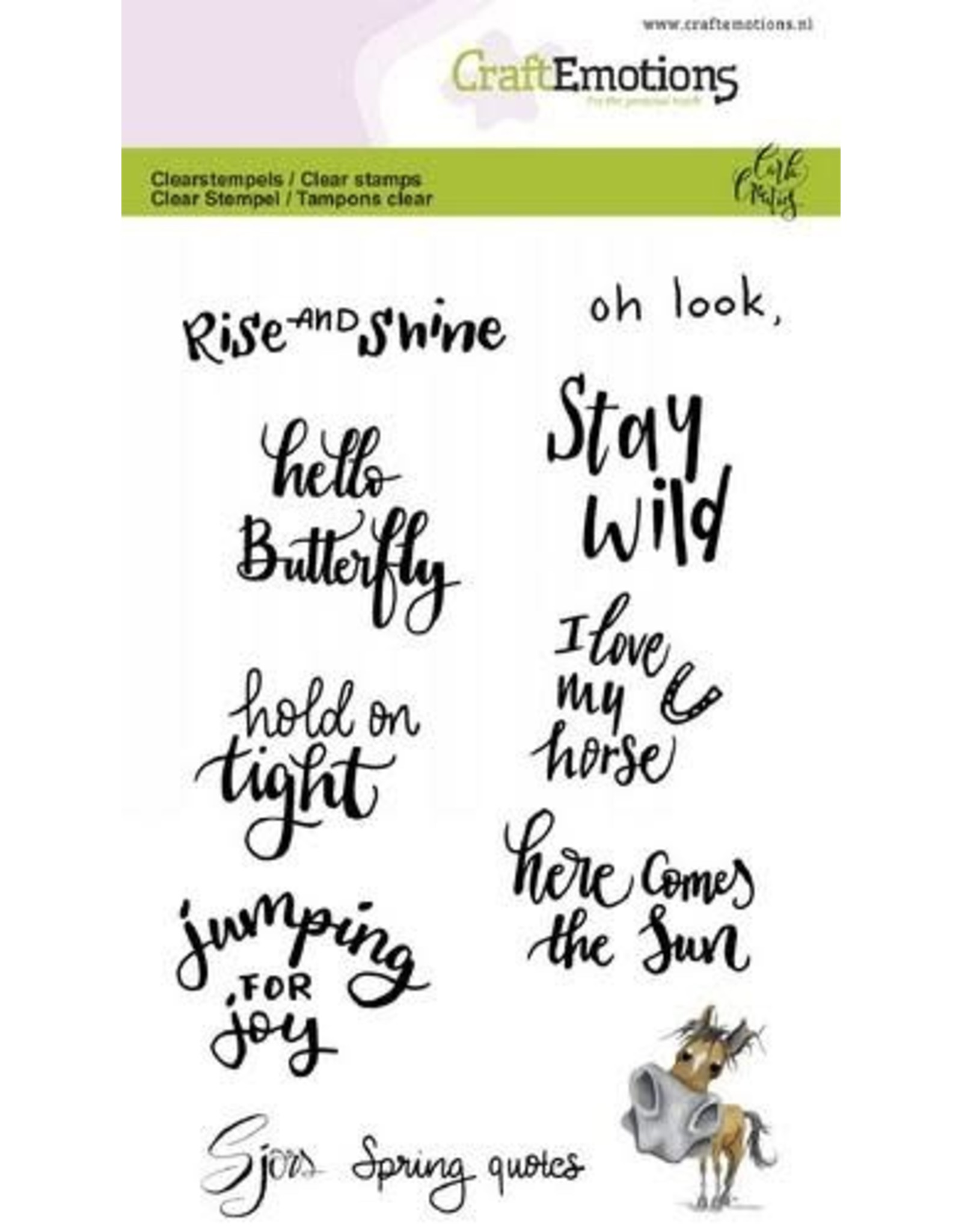 Craft Emotions CraftEmotions clearstamps A6 - Sjors Spring quotes (Eng) Carla Creaties