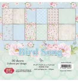 Craft & You Craft&You Bird Song Small Paper Pad 6x6 36 vel CPB-BS15