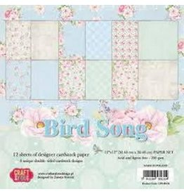 Craft & You Craft&You Bird Song BIG Paper Set 12x12 12 vel CPS-BS30