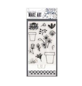Ranger Ranger • Wendy Vecchi stamp die stencil flower pot