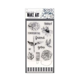 Ranger Ranger • Wendy Vecchi stamp die stencil flowers say it all