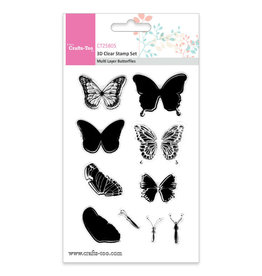 Crafts-Too Crafts Too 3D Clearstamp Set - Multi Layer Butterflies (10pcs)