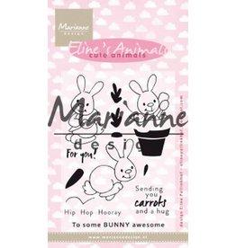 Marianne Design Marianne D Clear Stamp Eline's cute animals - konijntjes EC0178