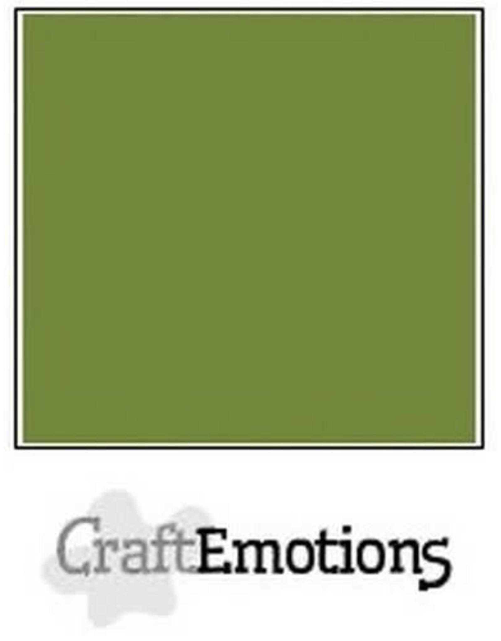 Craft Emotions CraftEmotions karton gladkarton  mosgroen 30,0x30,0cm 250gr