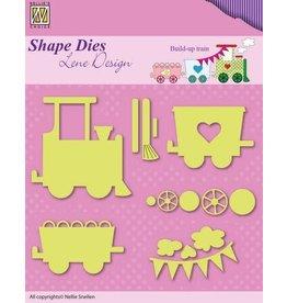 Nellie's Choice Nellies Choice Shape Die - Lene baby opbouw trein SDL033