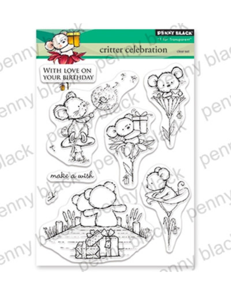 penny black Penny Black Transparant stamp set Critter Celebration 30-542