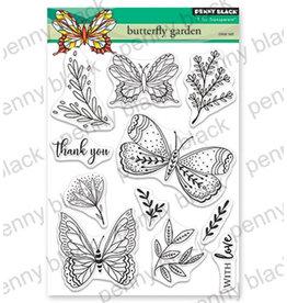 penny black Penny Black Transparant stamp set Butterfly Garden 30-558
