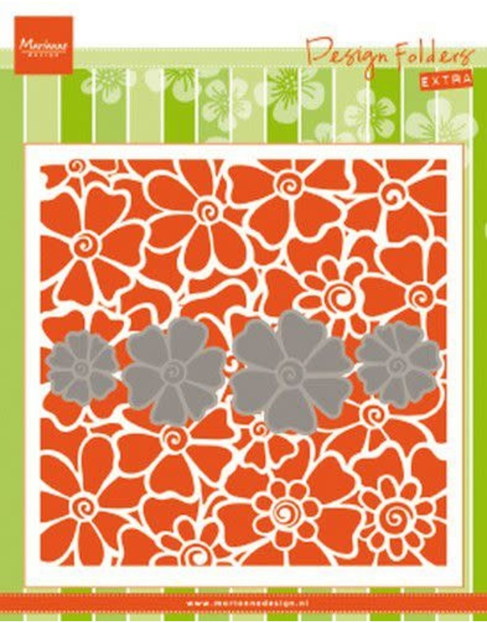 Marianne Design Marianne D Embossing folder Klaprozen DF3452 152x154mm