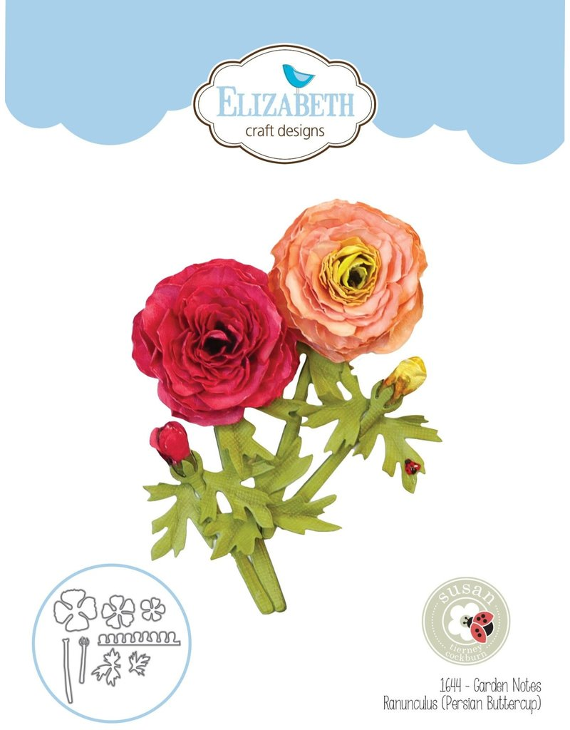 Elizabeth Craft Designs Elizabeth Craft Designs Garden Notes - Ranunculus (Persian Buttercup) 1644