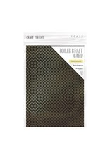 Tonic Studios Tonic Studios Craft P. Foiled K.Card - Golden Quarterfoil 5 vl 9345E A4 280GR