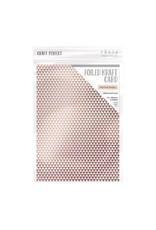 Tonic Studios Tonic Studios Craft P. Foiled K.Card - Rose Gold Triangles 5 vl 9347E A4 280GR