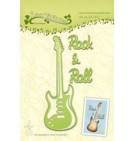 Lecrea design LeCrea - Lea'bilitie Guitar snij en embossing mal 45.1512