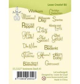 Lecrea design LeCrea - Clear stamp Sentiments #3 teksten (NL) 55.5527