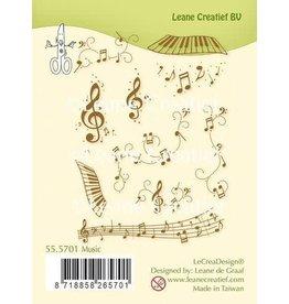 Lecrea design LeCrea - combi clear stamp Muziek 55.5701