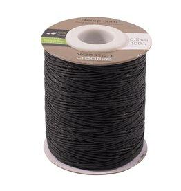 Vaessen Creative Vaessen Creative • Hemp cord zwart 0,8mm x 100m