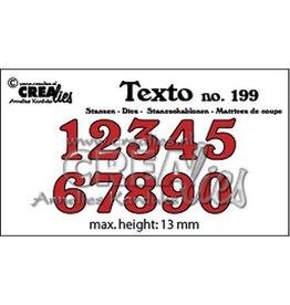 Crealies Crealies Texto Stansen cijfers middel CLTX199 max. height: 13 mm
