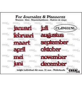Crealies Crealies Journalzz & Pl Stansen maanden NL CLJP601NL max. height: 11 mm
