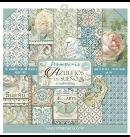 Stamperia Stamperia Azulejos 12x12 Inch Paper Pack (SBBL55)