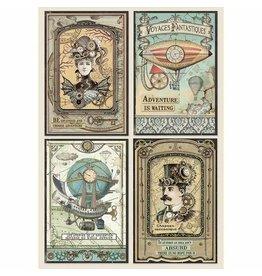 Stamperia Stamperia Rice Paper A4 Voyages Fantastiques Cards (DFSA4368)