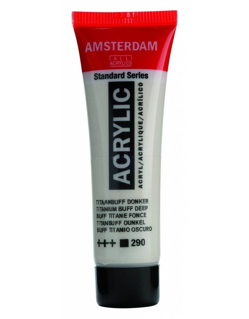 Amsterdam Amsterdam Acrylverf 20 ml Tube Titaanbuff Donker