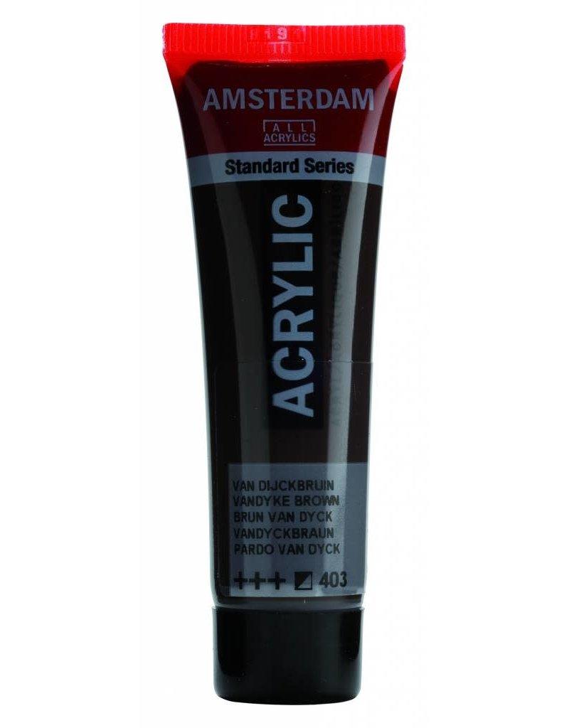 Amsterdam Amsterdam Acrylverf 20 ml Tube Van Dijckbruin