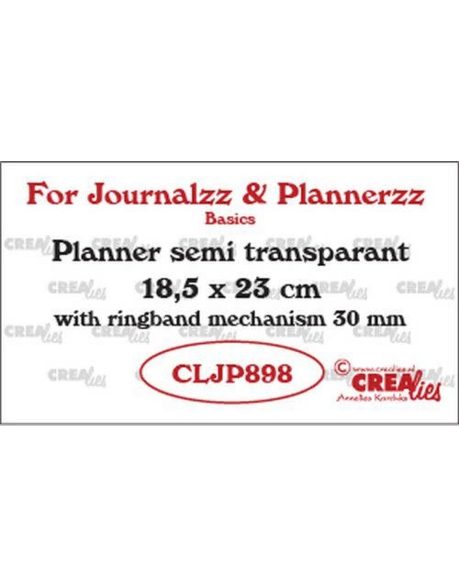 Crealies Crealies Journalzz & Pl Planner semi transparant CLJP898 18,5 x 23 cm