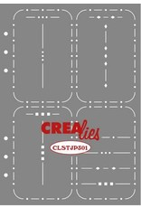Crealies Crealies Journalzz & Pl Stencil Journaling Week Spread A CLSTJP301