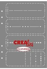 Crealies Crealies Journalzz & Pl Stencil Journaling Week Spread B CLSTJP302 14,5 x 20,8 cm