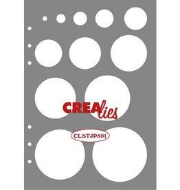 Crealies Crealies Journalzz & Pl Stencil decoratie cirkels CLSTJP501 14,5 x 20,8 cm