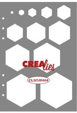 Crealies Crealies Journalzz & Pl Stencil decoratie zeshoeken CLSTJP504 14,5 x 20,8 cm