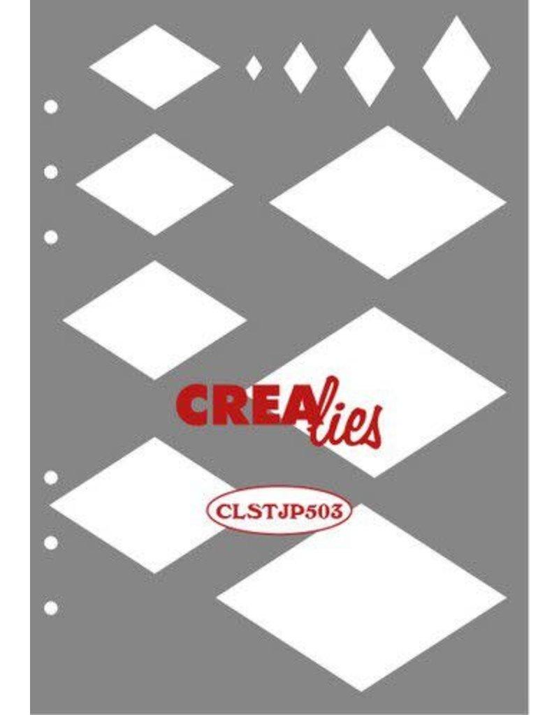 Crealies Crealies Journalzz & Pl Stencil decoratie wybers CLSTJP503 14,5 x 20,8 cm