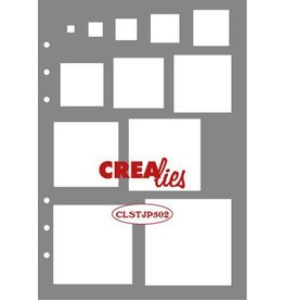 Crealies Crealies Journalzz & Pl Stencil decoratie vierkanten CLSTJP502 14,5 x 20,8 cm