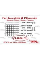 Crealies Crealies Journalzz & Pl Stempels maandtracker NL CLJP201NL 40 x 75 mm