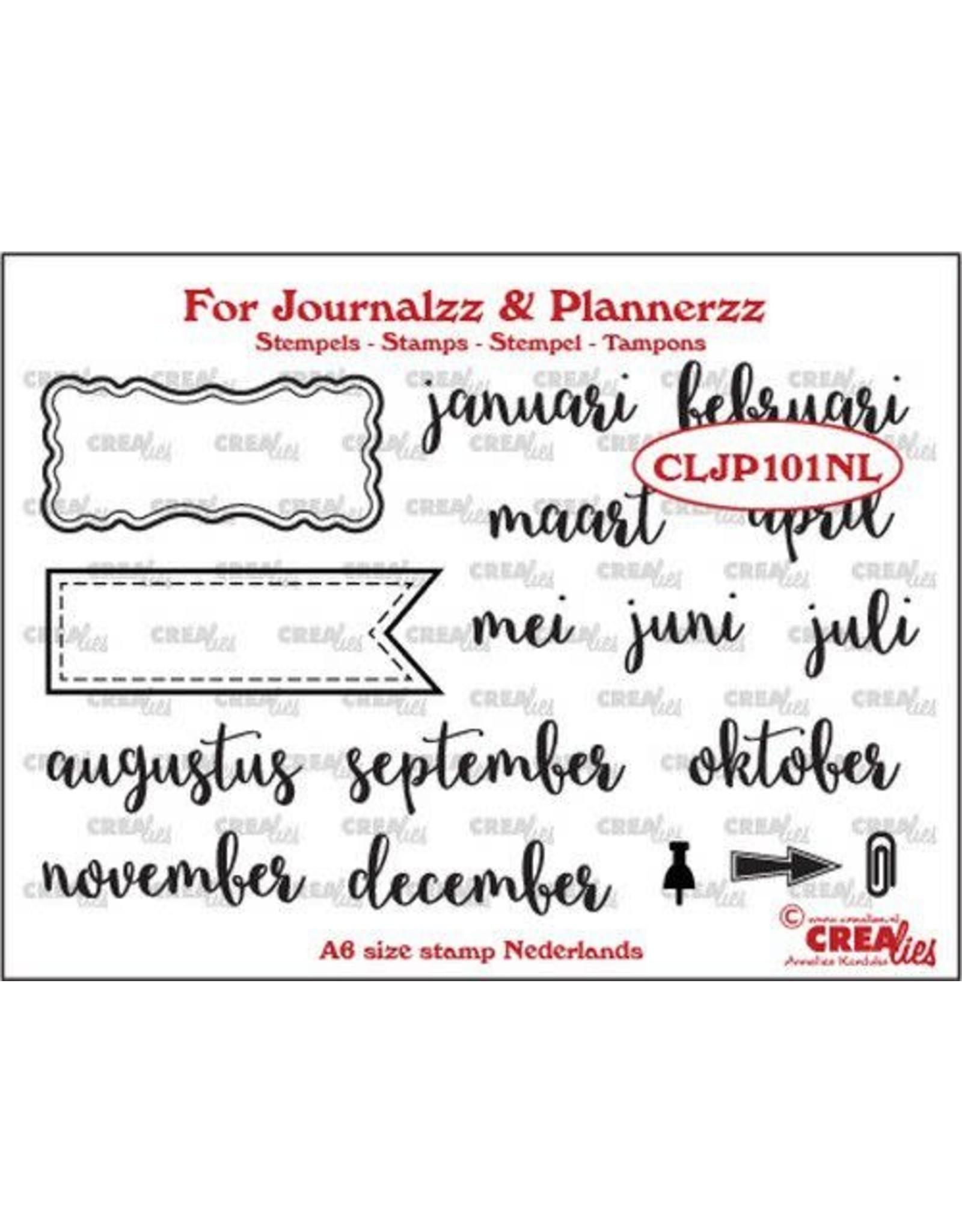 Crealies Crealies Journalzz & Pl Stempels maanden NL CLJP101NL A6