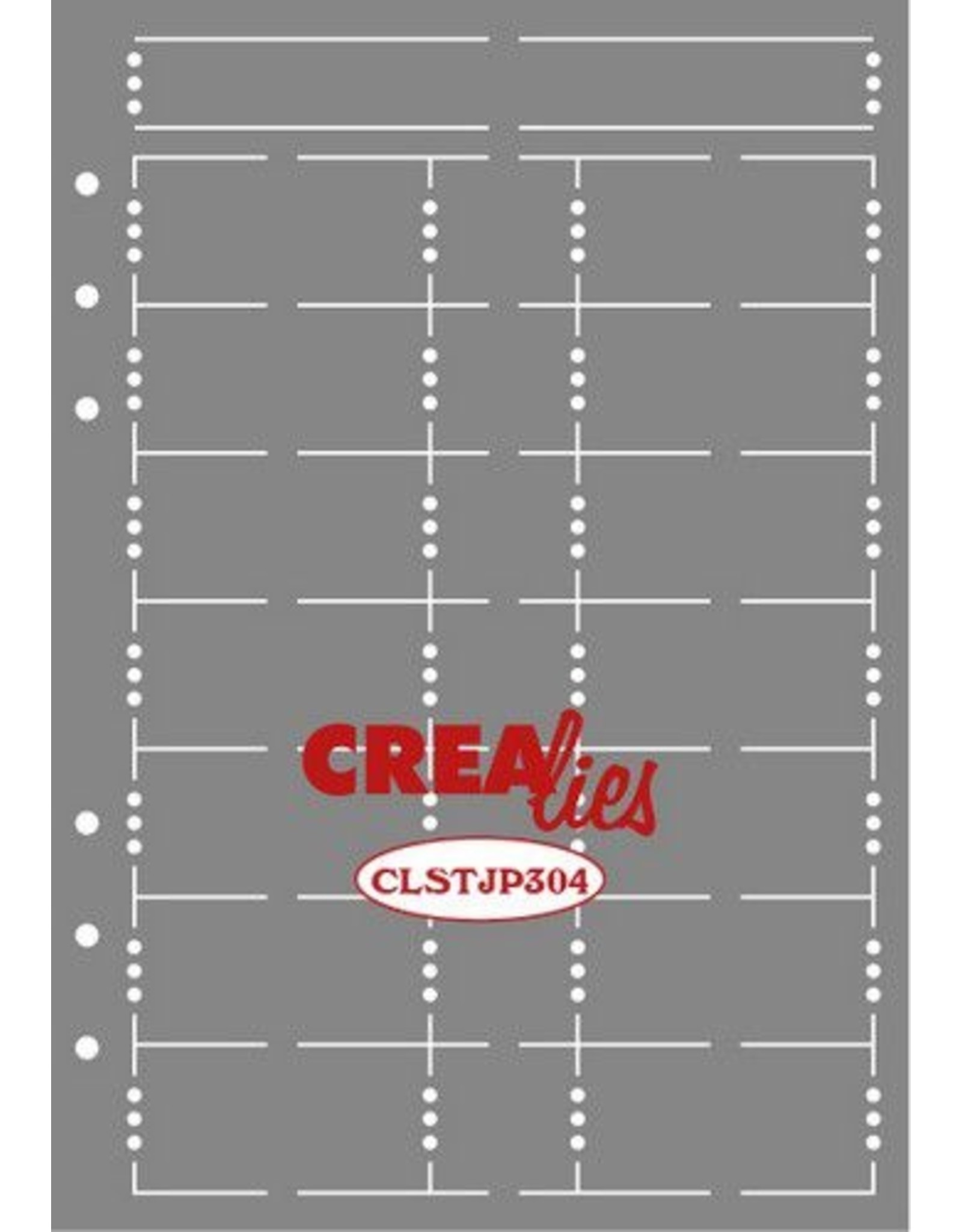 Crealies Crealies Journalzz & Pl Stencil Journaling Week Pagina B CLSTJP304 14,5 x 20,8 cm