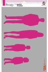 Pronty Pronty Mask stencil Silhouttes people A4 470.770.007 by Jolanda