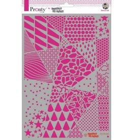 Pronty Pronty Mask stencil Geometric backgrounds A4 470.770.008 by Jolanda