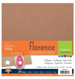 Vaessen Creative Florence • Kraft papier 30,5x30,5cm 300g
