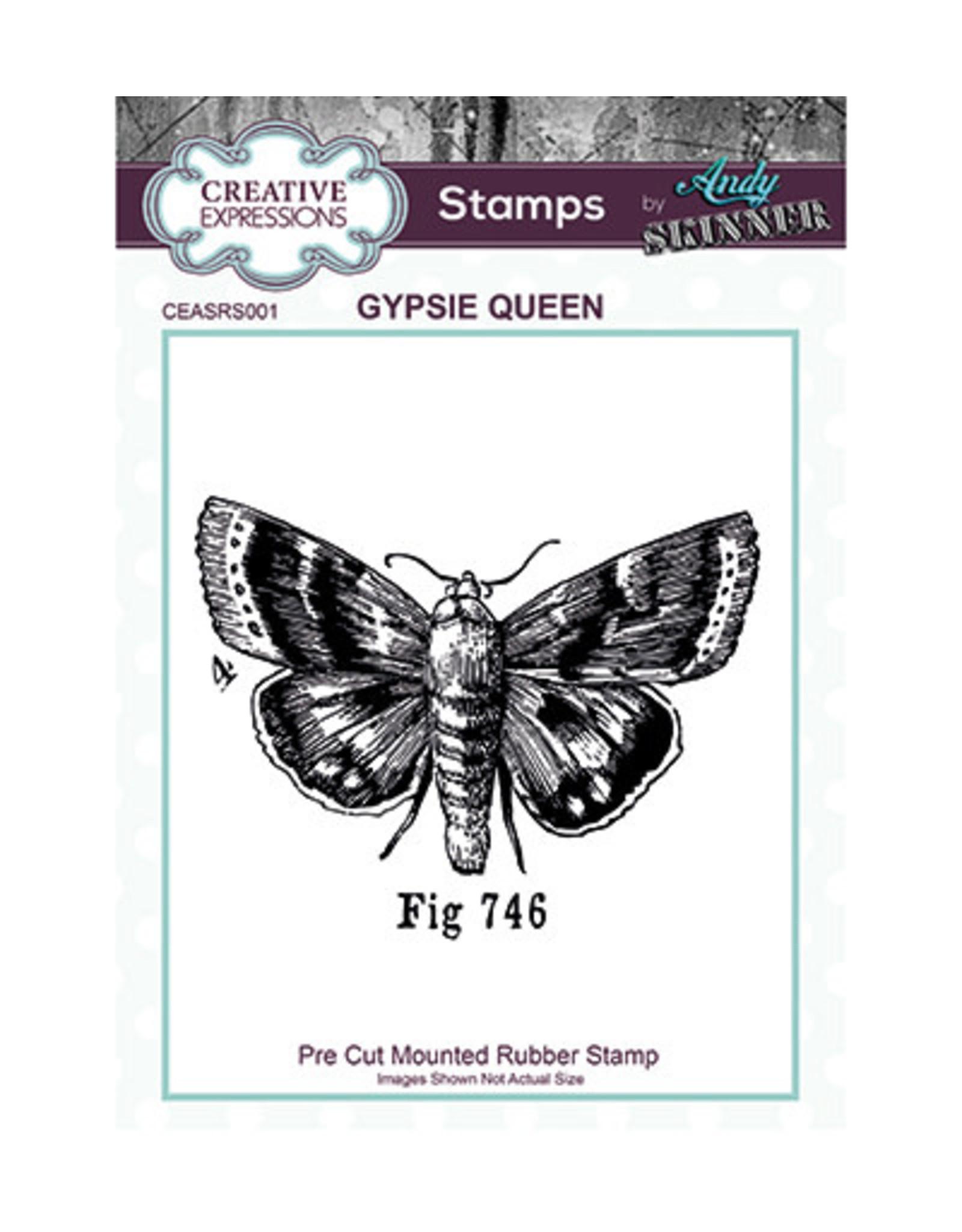 Creative Expressions Creative Expressions Pre Cut Rubber Stamp Gypsie Queen  Andy Skinner CEASRS001