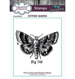 Creative Expressions Creative Expressions Pre Cut Rubber Stamp Gypsie Queen  Andy Skinner CEASRS001